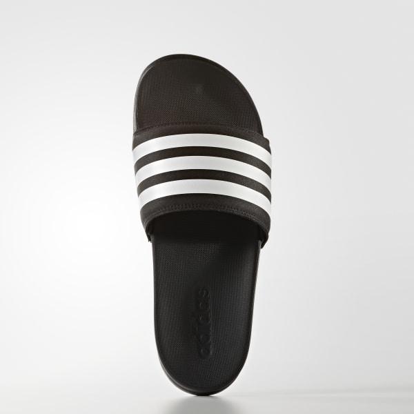 dd69546d362df adilette Cloudfoam Plus Stripes Slides Core Black Footwear White S80420