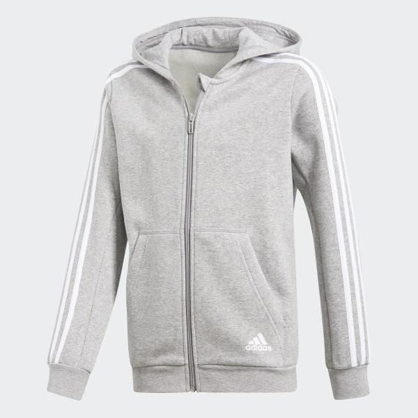 najnowszy podgląd produkty wysokiej jakości adidas Bluza z kapturem Essentials 3-Stripes - szary   adidas Poland