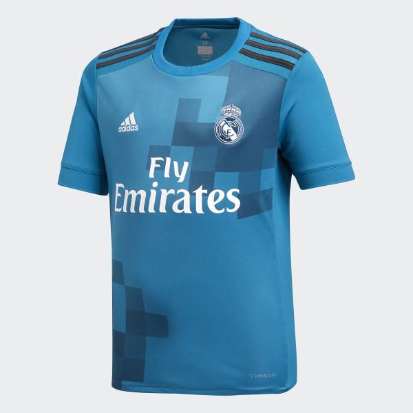 b017c3416ac09 Camisa Real Madrid 3 Infantil VIVID TEAL S13 SOLID GREY F11 WHITE B31079