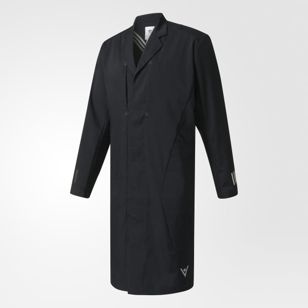 7feb814fc010 adidas Men s White Mountaineering Long Coat - Black