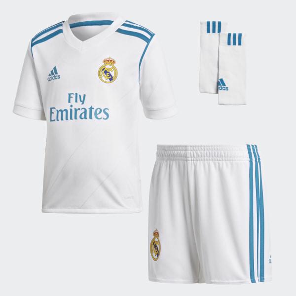 Mini Uniforme Local Real Madrid WHITE VIVID TEAL S13 B31118 c8cb2ea04539f
