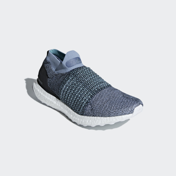 e90af53d0ff Ultraboost Laceless Parley Shoes Raw Grey   Carbon   Blue Spirit CM8271