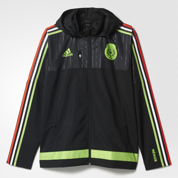 Chamarra Selección Mexicana de Fútbol Hombre BLACK   SEMI SOLAR GREEN S13148 636666e141a25