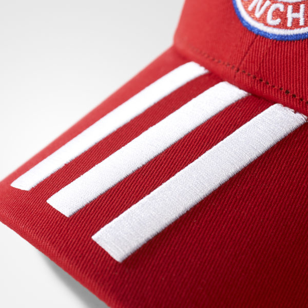 368544b90d2 FC Bayern Munich 3-Stripes Hat Fcb True Red   White BR7060