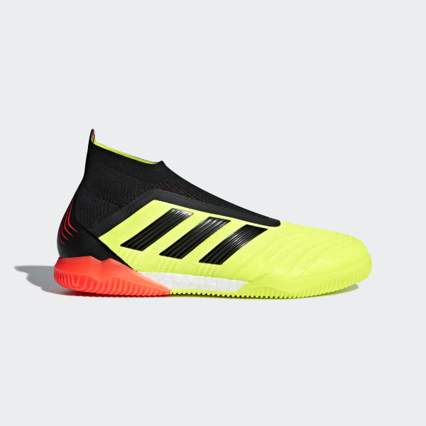 ee67e0157576 Predator Tango 18+ Indoor Boots Solar Yellow   Core Black   Solar Red DB2052