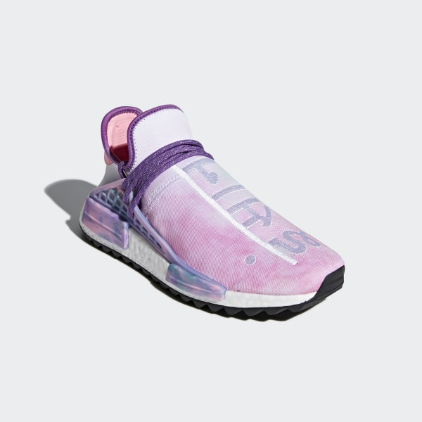 732f21b5b37aa Pharrell Williams Hu Holi NMD MC Shoes Pink Glow   Lab Green   Flash Purple  AC7362