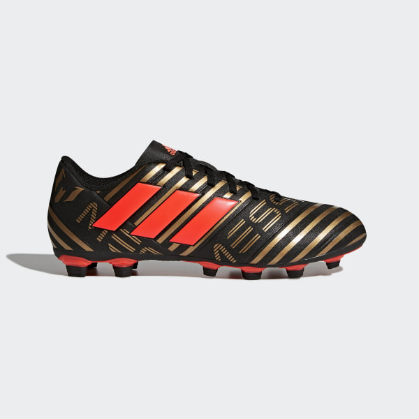 475ed375a5108 Calzado de Fútbol Nemeziz Messi 17.4 Terreno Flexible CORE BLACK SOLAR  RED TACTILE GOLD