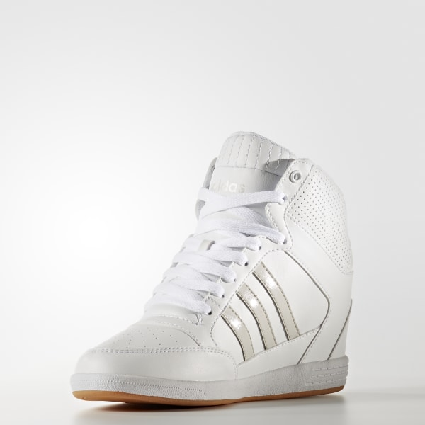 2b49330bbe5 Super Wedge Shoes Cloud White   Cloud White   Pearl Grey AW3968