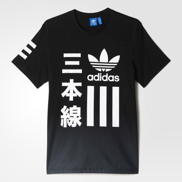adidas Camiseta Blanco y Negro Bold - Negro  1edc759bb2499