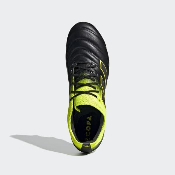 106a9263b11b5 Copa 19.1 Soft Ground Boots Core Black   Solar Yellow   Core Black F35847