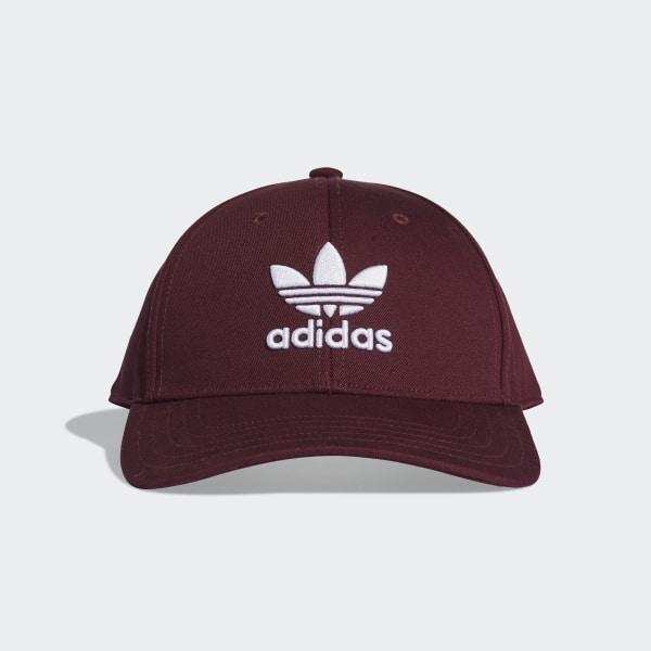 adidas Trefoil Baseball Cap - Red  f8269ab9372