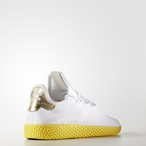 b41fa8b81bf60 Pharrell Williams Tennis Hu Primeknit Shoes Cloud White   Cloud White    Cloud White BY2674