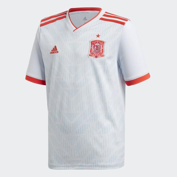 a5a7eb3e22038 Camiseta Oficial Selección de España Visitante Niño 2018 HALO BLUE  S16 BRIGHT RED BR2694