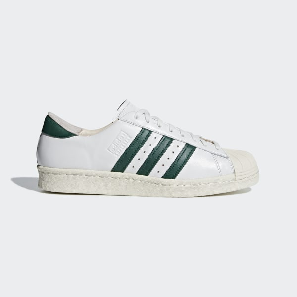 the latest 9c51b 8f89d Zapatillas SUPERSTAR 80s RECON CRYSTAL WHITE COLLEGIATE GREEN OFF WHITE  B41719