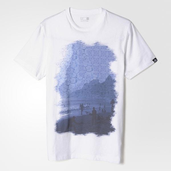 Camiseta City Graphic - Branco adidas  2538e8346182f