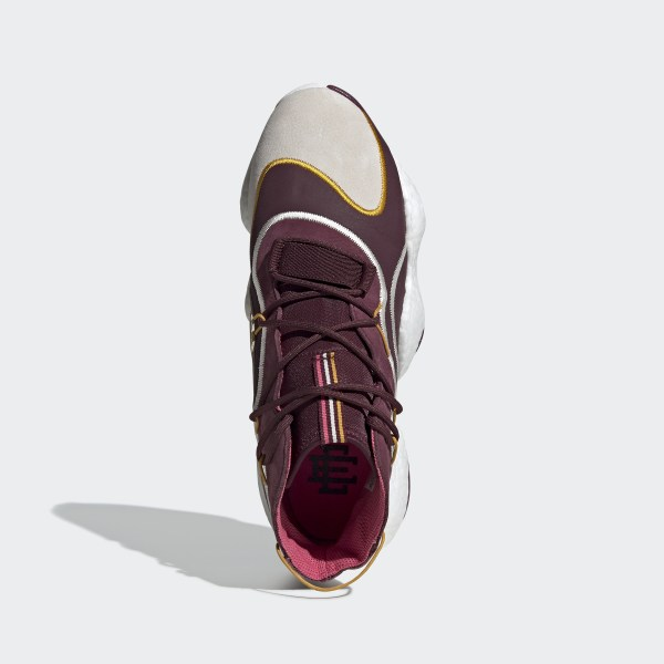 quality design 0b1a8 6b374 Eric Emanuel Crazy BYW Shoes Maroon  Cream White  Real Pink BD7242