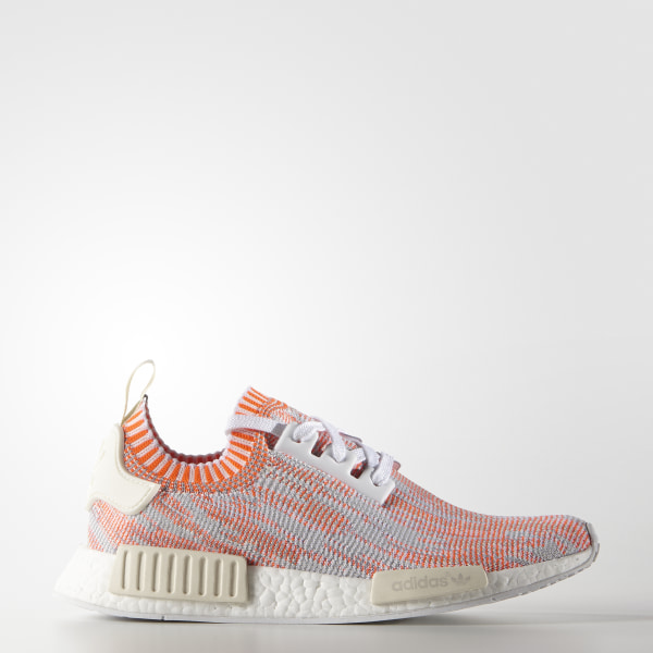 aa8a9bf42 NMD R1 Primeknit Shoes Cloud White   Solar Red   Off White BA8599