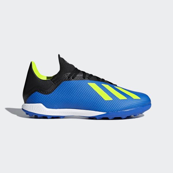 31d59e7125a3b Botines X Tango 18.3 Turf FOOTBALL BLUE SOLAR YELLOW CORE BLACK DB1955