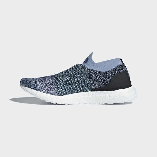 official photos 16db2 14ad4 Ultraboost Laceless Parley Shoes Raw Grey  Carbon  Blue Spirit CM8271