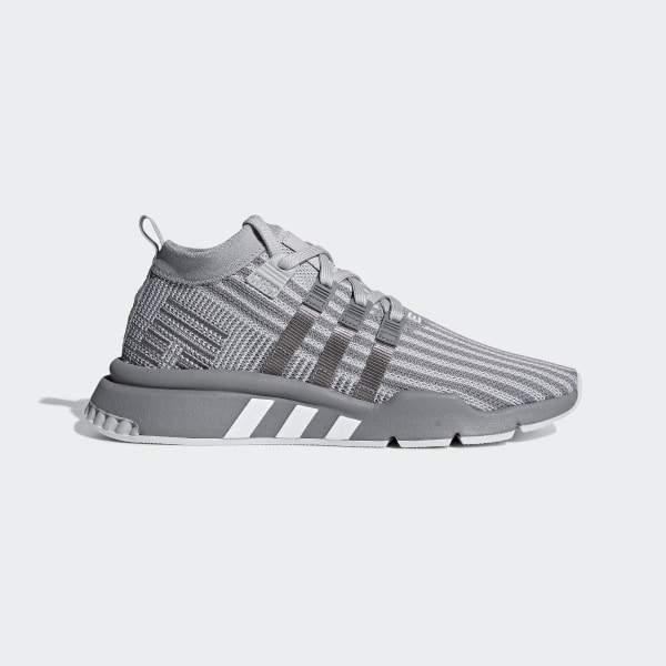 best service 5fcfe 5456b EQT Support Mid ADV Primeknit Shoes Grey  Grey  Solar Yellow B37407