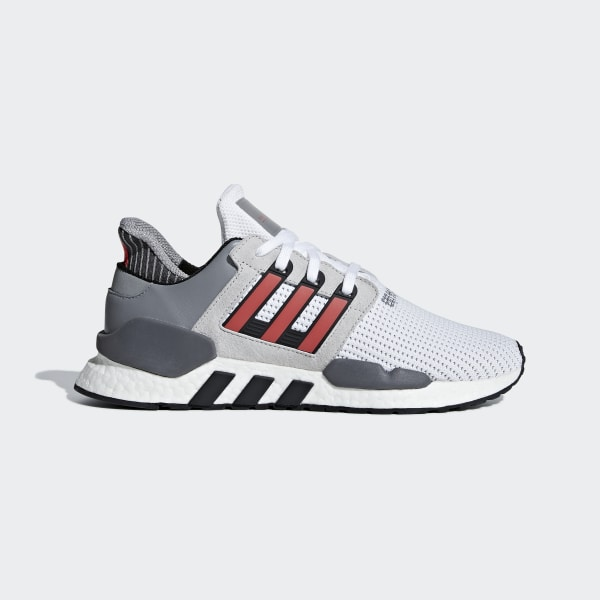 100% authentic 301a4 0775d EQT Support 9118 Shoes Ftwr White  Hi-Res Red  Grey Two