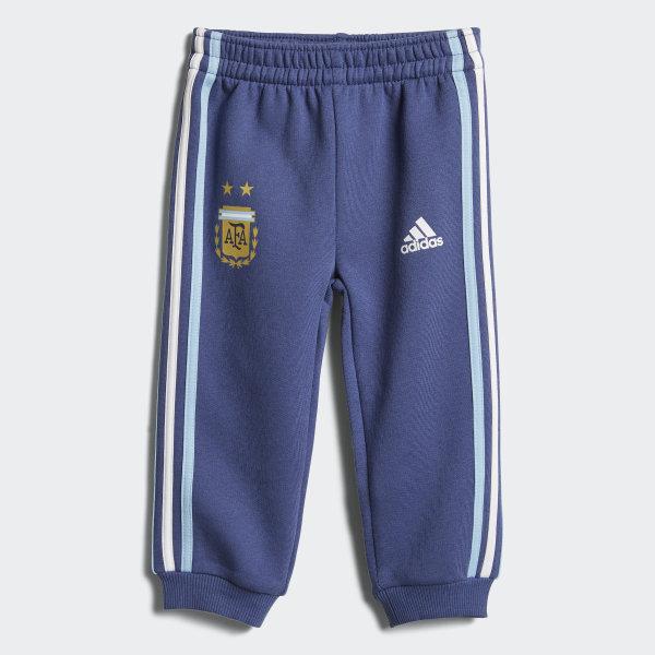 Pantalón con puño Selección Argentina 3 Tiras para Bebé RAW PURPLE CLEAR  BLUE WHITE 4059b1625d677