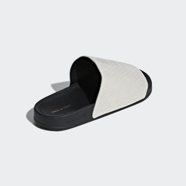 3acd1e314 Adilette Luxe Slides Grey Two   Core Black   Gold Metallic DA8930