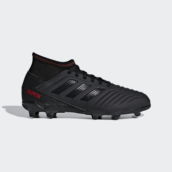 3ad8c5a118e0 Predator 19.3 Firm Ground Cleats Core Black   Core Black   Active Red D98003