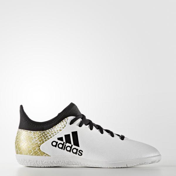 Chuteira Infantil X 16.3 - Futsal WHITE CORE BLACK GOLD MET. AQ4346 63f16c1d23c8e