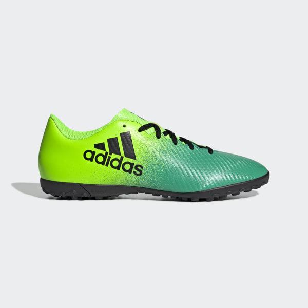 Zapatillas de fútbol X 16.4 Pasto Artificial SOLAR GREEN CORE BLACK CORE  GREEN BB5904 b14d70d4c1b3a