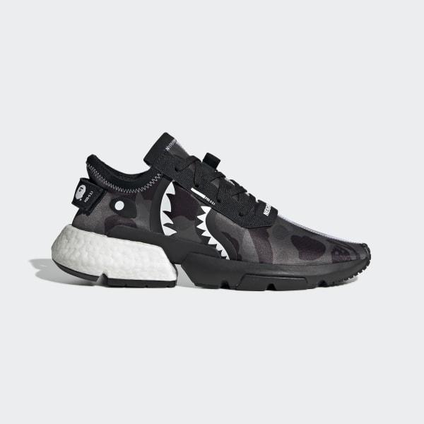 2e3838c727685 NEIGHBORHOOD BAPE POD-S3.1 Shoes Core Black   Ftwr White   Core Black