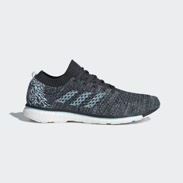 buy popular 53c95 aef43 Adizero Prime Parley Shoes Carbon  Blue Spirit  Cloud White DB1252