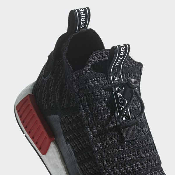 79700adcaf377 NMD TS1 Primeknit Shoes Core Black   Carbon   Grey B37634
