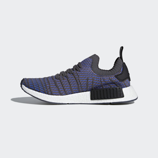 82b0123eb71a6 NMD R1 STLT Primeknit Shoes Hi-Res Blue   Core Black   Chalk Coral CQ2388