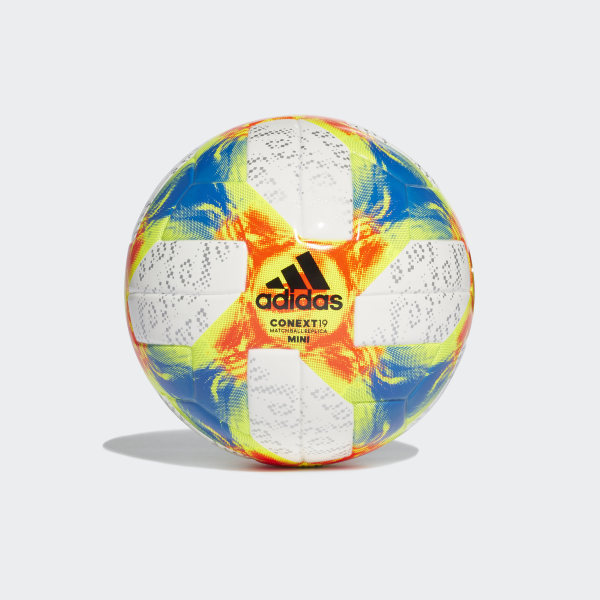 bbdb37345831b Mini balón Conext 19 White   Solar Yellow   Solar Red   Football Blue DN8638