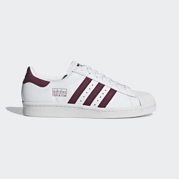 7a1e782067 Superstar 80s Shoes ftwr white   maroon   crystal white CM8439