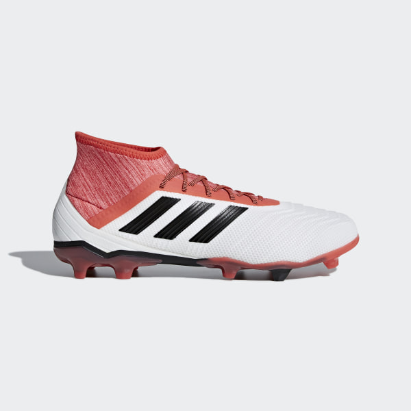 timeless design 688dc 8b6ae Predator 18.2 Firm Ground Boots Ftwr White   Core Black   Real Coral CM7666
