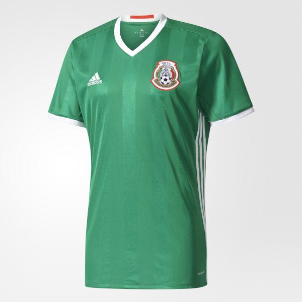 Camiseta de local de México GREEN RED WHITE AC2723 b2297be4c02fb