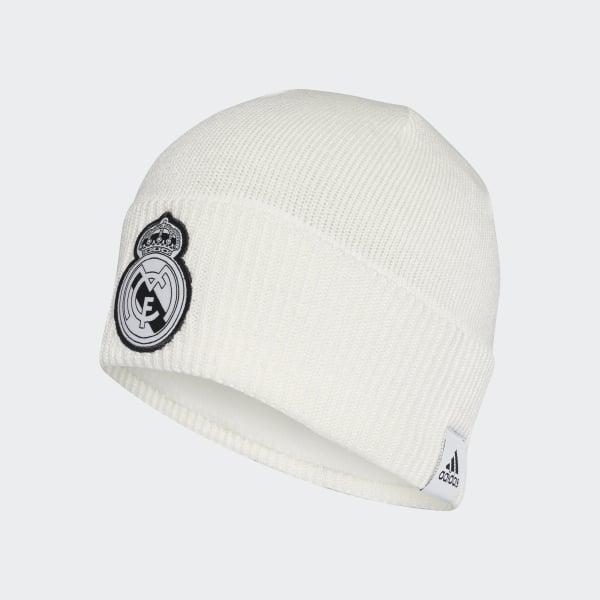 adidas Real Madrid Beanie - White  8ca59fef2dd