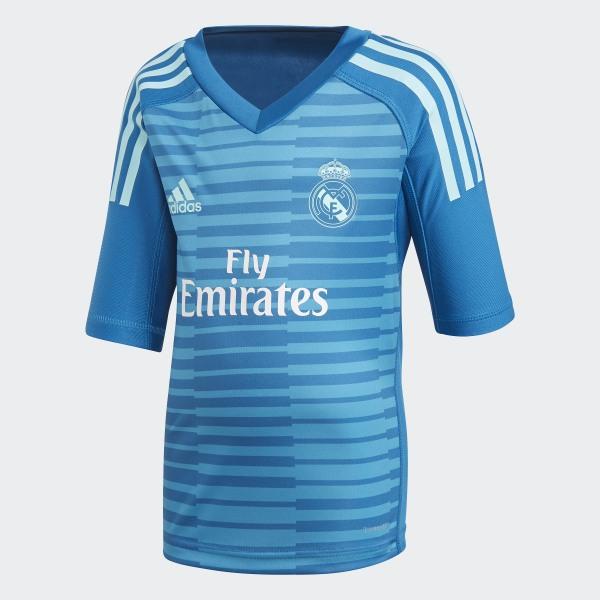 Real Madrid Away Goalkeeper Mini Kit Bold Aqua   Unity Blue CG0579 d713a43fa