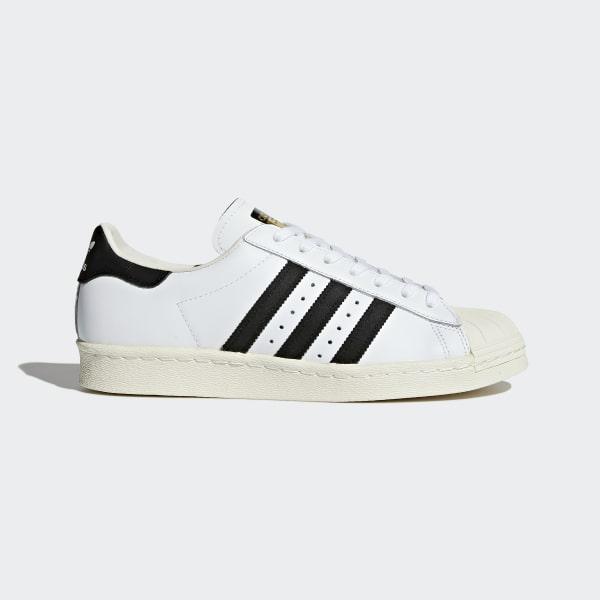 newest 5099b 7242d Superstar 80s White Core Black Chalk White G61070