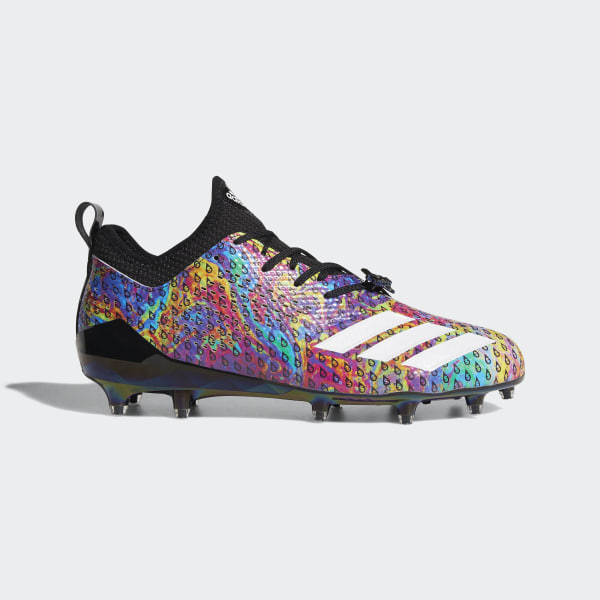 timeless design 4b1e3 9812d Adizero 5-Star 7.0 Adimoji Cleats Core Black  Multicolor  Cloud White   Core