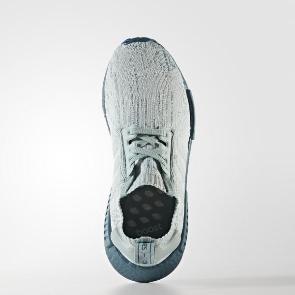 2190bfc342585 NMD R1 Primeknit Shoes Blue   Tactile Green   Petrol Metallic CG3601