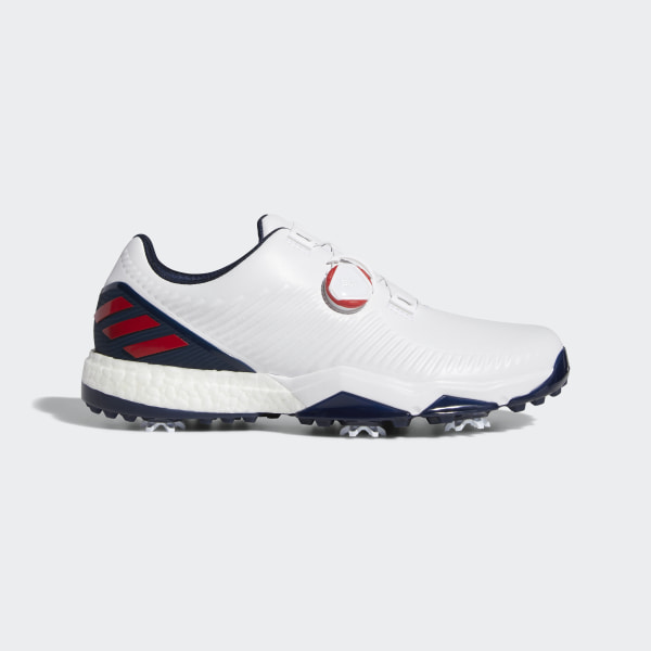 timeless design dea80 d3184 Adipower 4orged Boa Schuh Ftwr White  Collegiate Red  Collegiate Navy  F34186