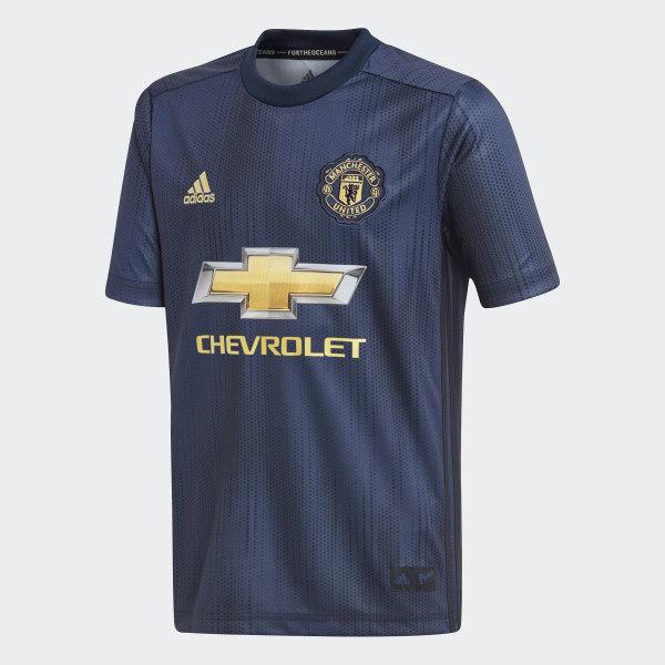 Camiseta Tercer Uniforme Manchester United Réplica COLLEGIATE NAVY NIGHT  NAVY MATTE GOLD DP6017 cc2fd4f8431f6