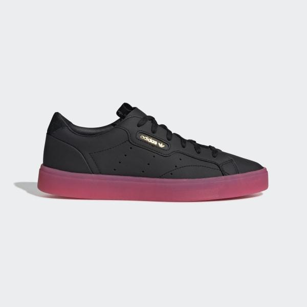 the latest 12f89 a8d8f adidas Sleek Shoes Core Black   Core Black   Super Pink G27341
