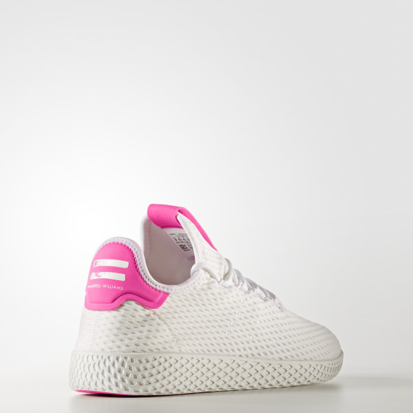 231537bfb0435 Pharrell Williams Tennis Hu Shoes Cloud White   Cloud White   Semi Solar Pink  BY8714