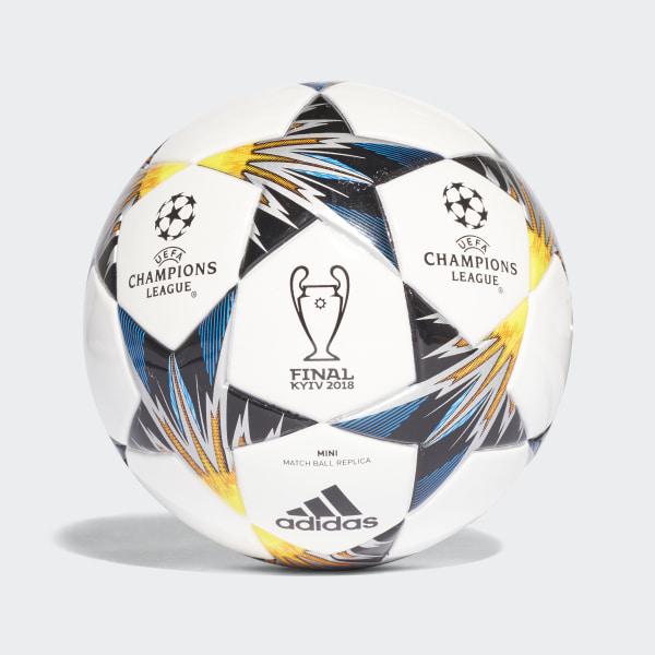 UCL Finale Kiev Mini Ball White   Black   Solar Yellow   Blue CF1196 e522b21502087