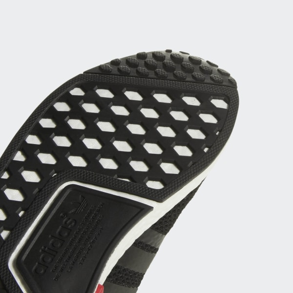 06282eb80fe79 NMD R1 Shoes Core Black   Tactile Rose   Bold Red D97088