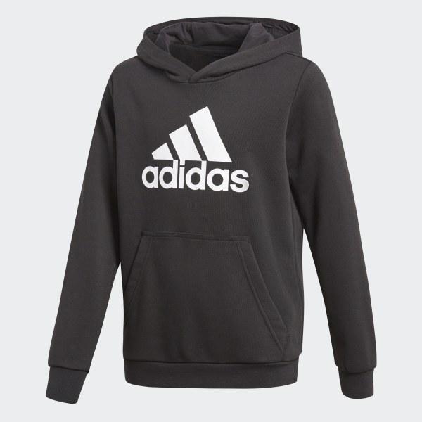 3ee1df77cce Blusa Moletom Yb Logo Hood - Preto adidas